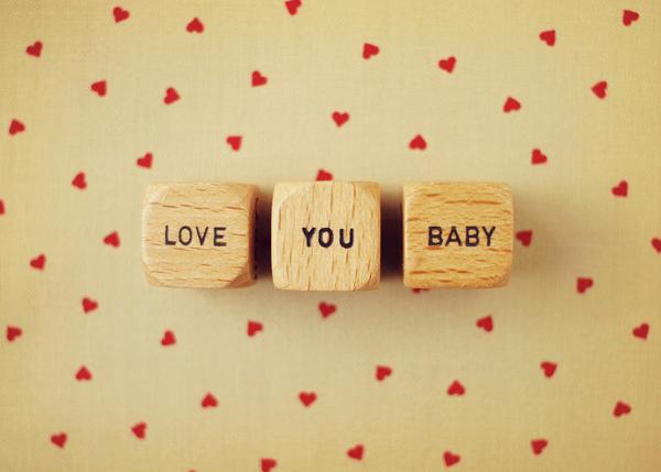 Love You Baby Vintage Letter Dice Photo Fine Art