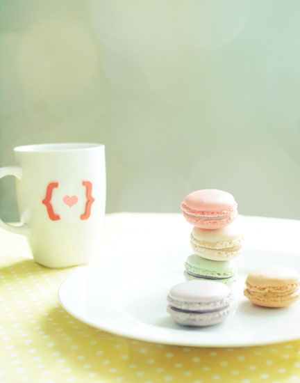 I Love French Macarons. Fine Art Food Photography. Spring Home Decor. Size 5x7&quot;
