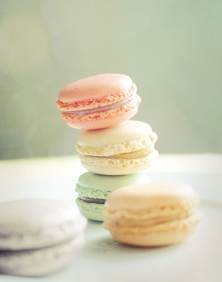 Sweet French Macarons. Home Decor. Fine Art Photography. Size 5x7""