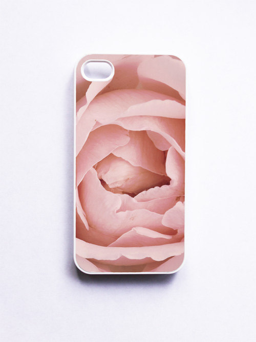 iPhone Case. Pink Rose. Flower Photo. White Case. iPhone 4 and 4S Accessory. Mothers Day. Soft Dreamy Feminine.