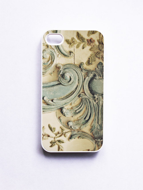 iPhone Case. Blue Lace Versailles. White Case. iPhone 4 and 4S Accessory. Creamy Baby Blue Rococo. Mothers Day