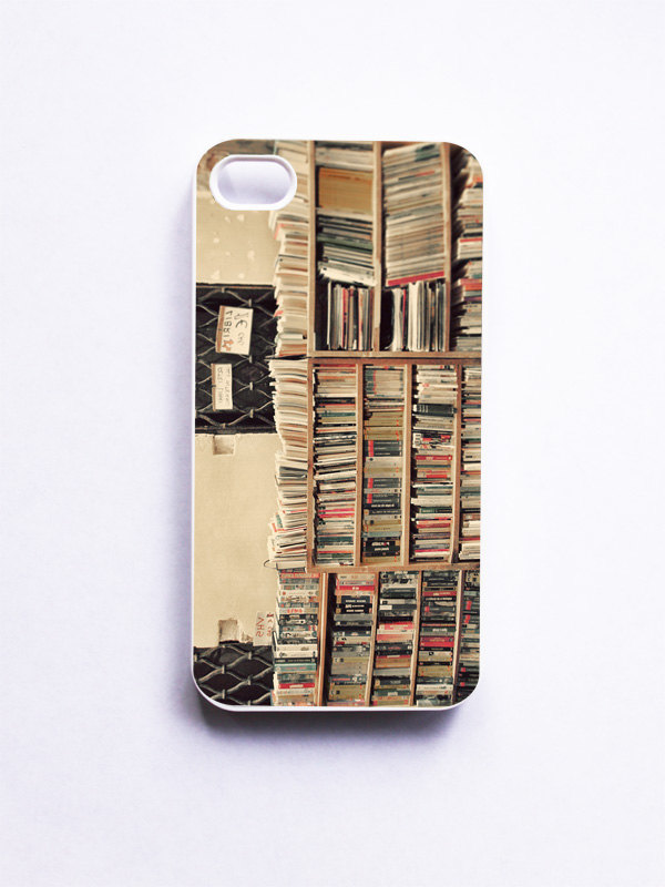 iPhone Case. Book Shop in Venice. Gift for Book Lovers. White Case. iPhone 4 and 4S Accessory. Venice Italy. Library Photo. Geekery