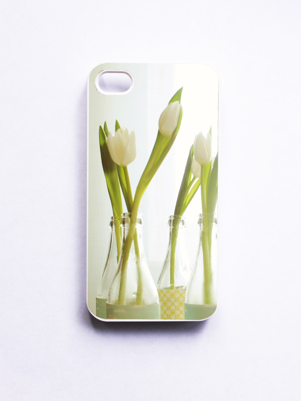 iPhone Case: Spring Tulips Photo. Flower Photo. White Cover. iPhone 4s Case. White Flowers. Spring Décor. Fine Art Photography. Feminine.