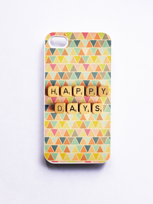 iPhone 4 Case: Happy Days. Tribal Geometric. Scrabble. White Case. iPhone 4s Case. Neon Colors.