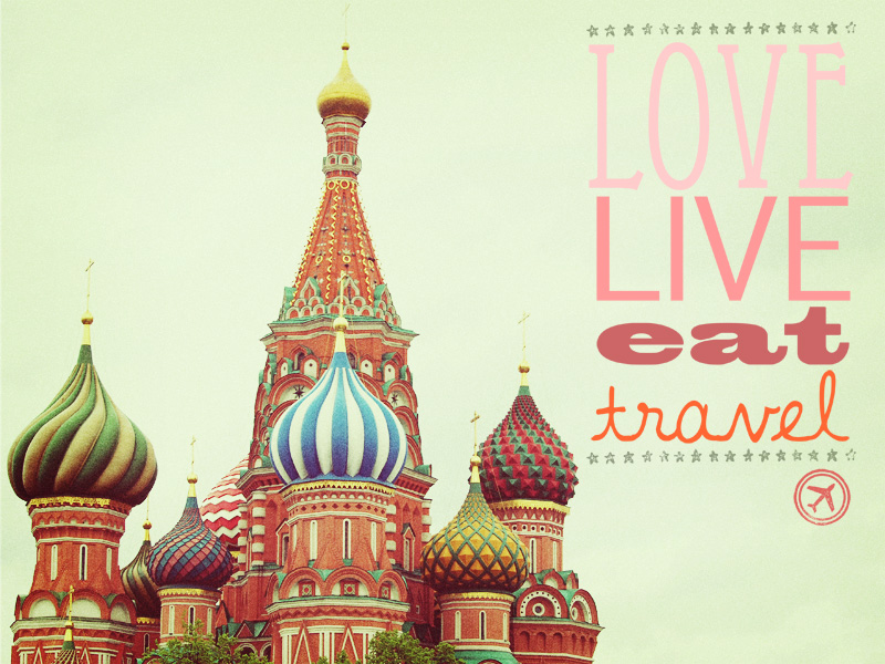 Love Live Eat Travel. Fine Art Photography. Moscow Photo. Typography Art. Home Decor. Size 16x20""